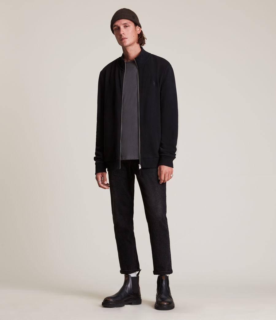 Herren Raven Zip Through Sweatshirt (black) - Image 3