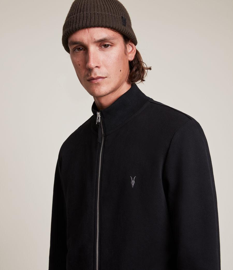 Herren Raven Zip Through Sweatshirt (black) - Image 4