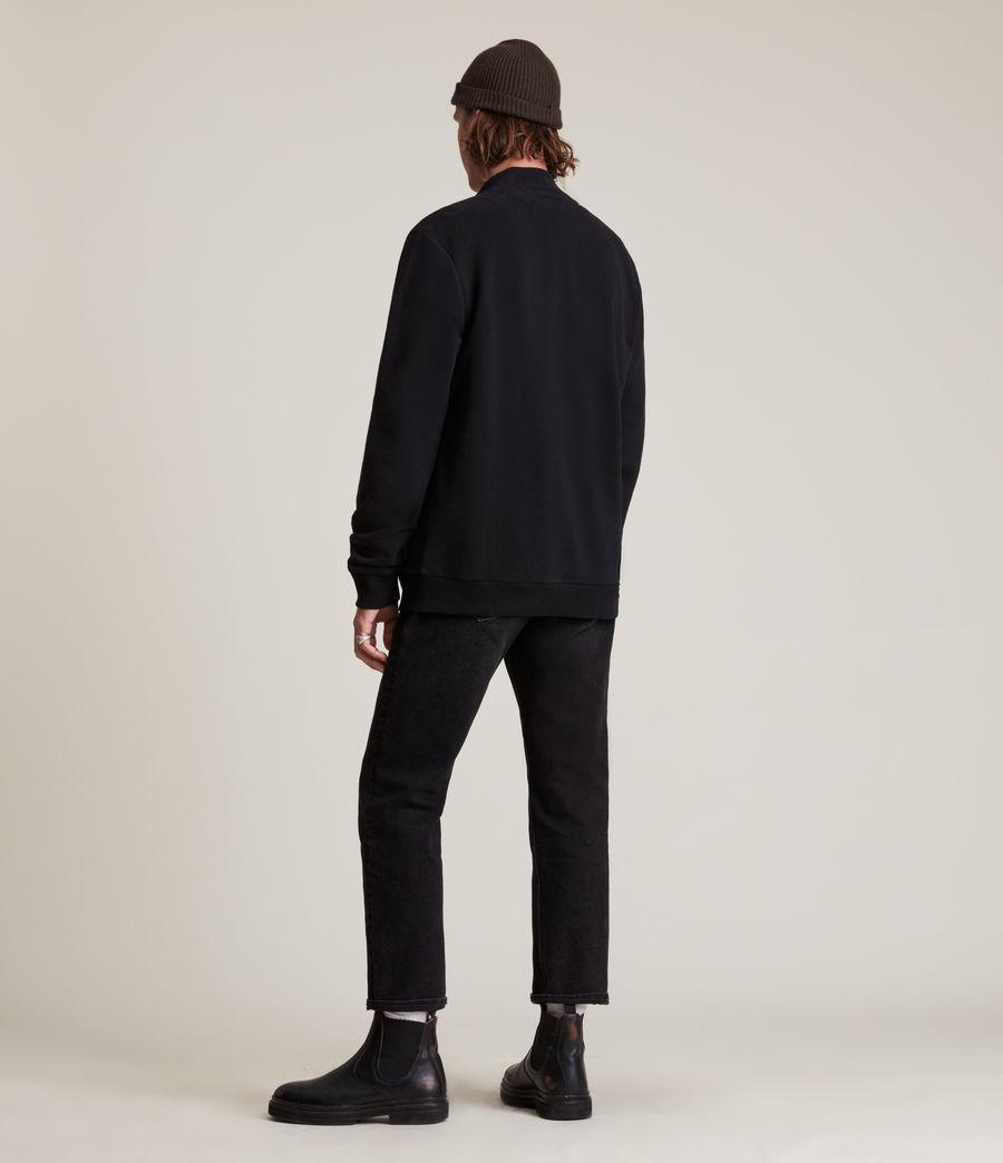 Herren Raven Zip Through Sweatshirt (black) - Image 5