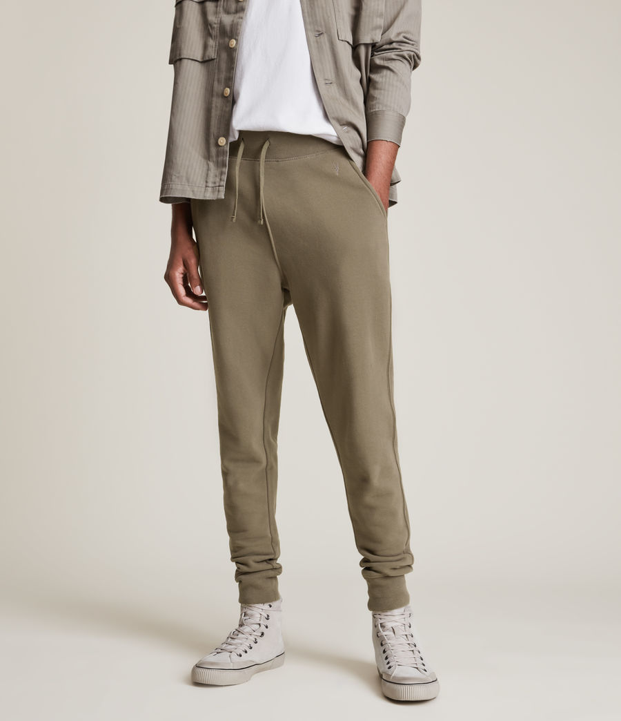 Mens Raven Cuffed Slim Sweatpants (peppered_brown) - Image 2