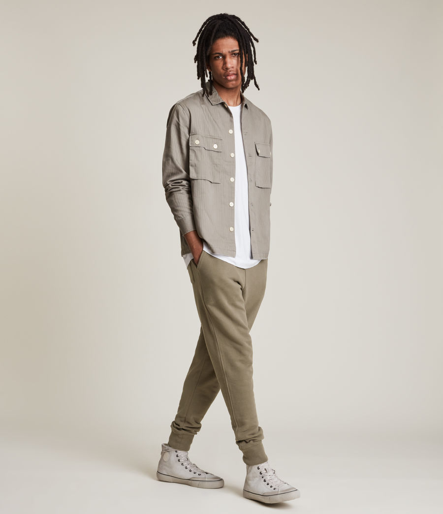 Mens Raven Cuffed Slim Sweatpants (peppered_brown) - Image 3