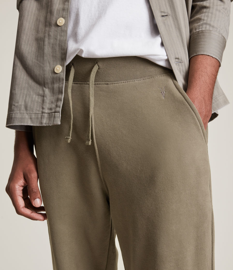 Mens Raven Cuffed Slim Sweatpants (peppered_brown) - Image 4