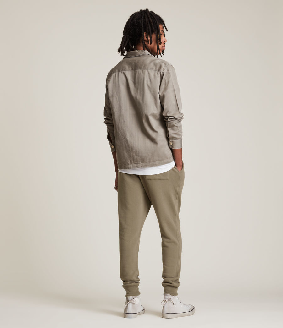 Mens Raven Cuffed Slim Sweatpants (peppered_brown) - Image 6