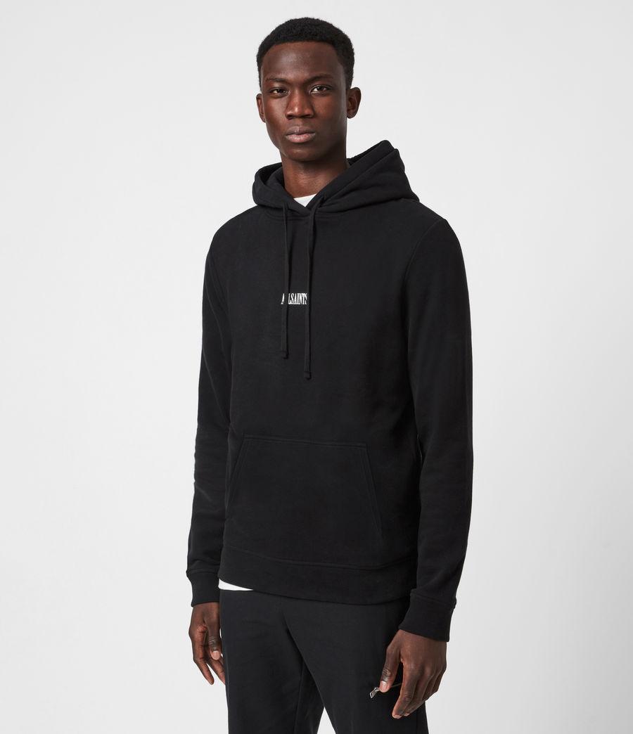 Mens State Pullover Hoodie (black) - Image 1