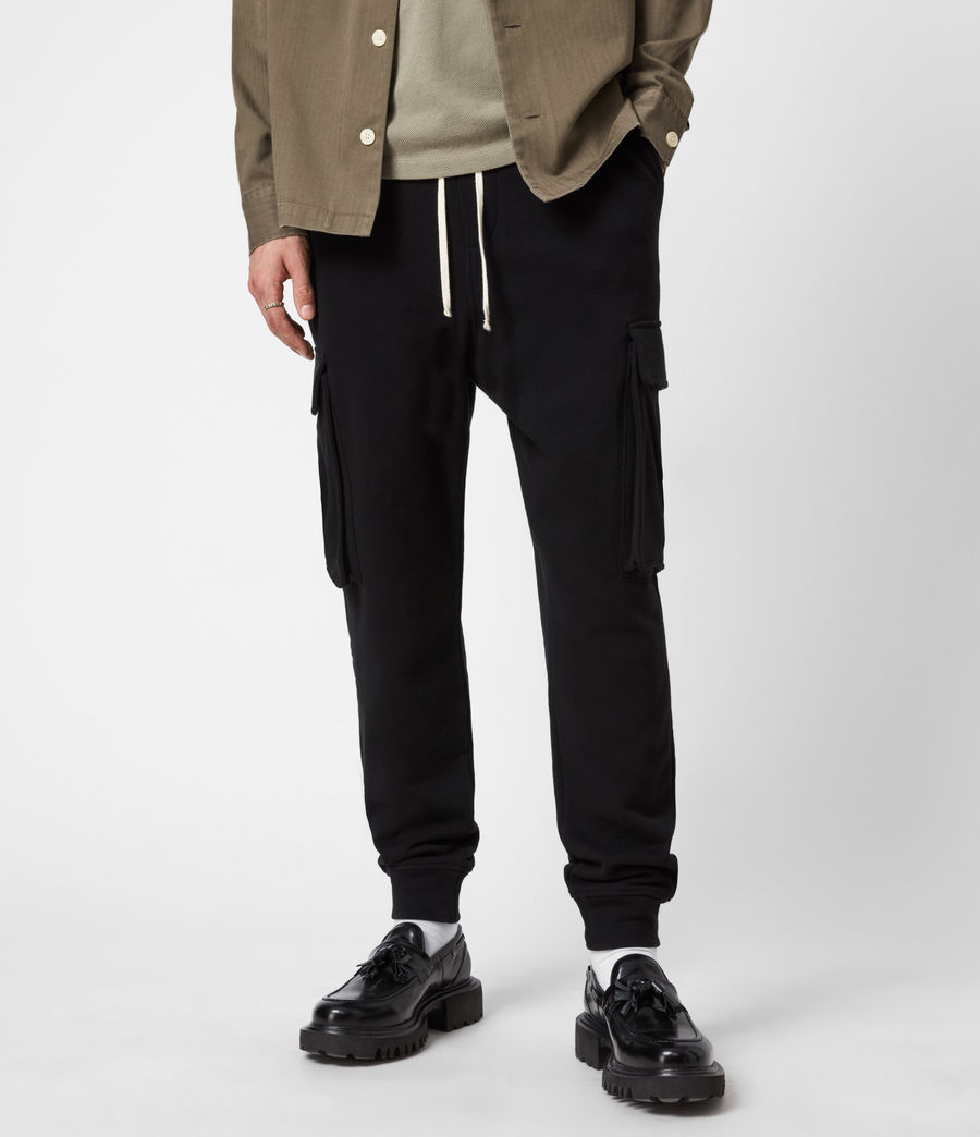 Men's Ellis Cuffed Sweatpants (jet_black) - Image 1