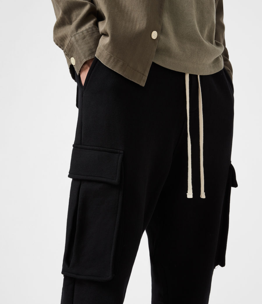 Men's Ellis Cuffed Sweatpants (jet_black) - Image 7