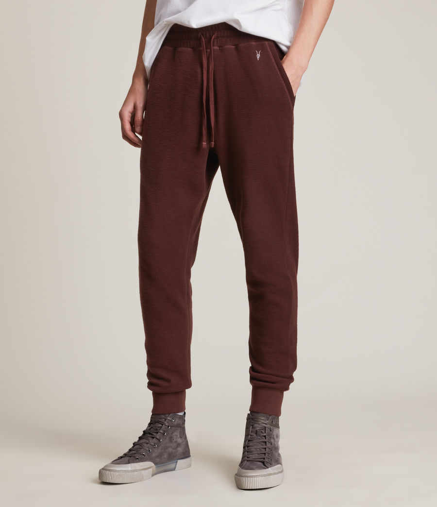 Herren Muse Cuffed Slim Sweatpants (charred_red) - Image 2