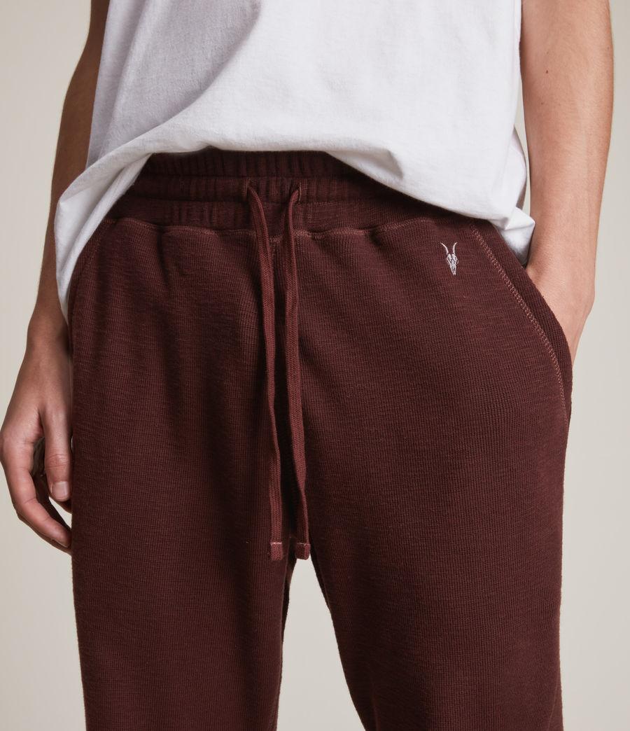 Herren Muse Cuffed Slim Sweatpants (charred_red) - Image 3