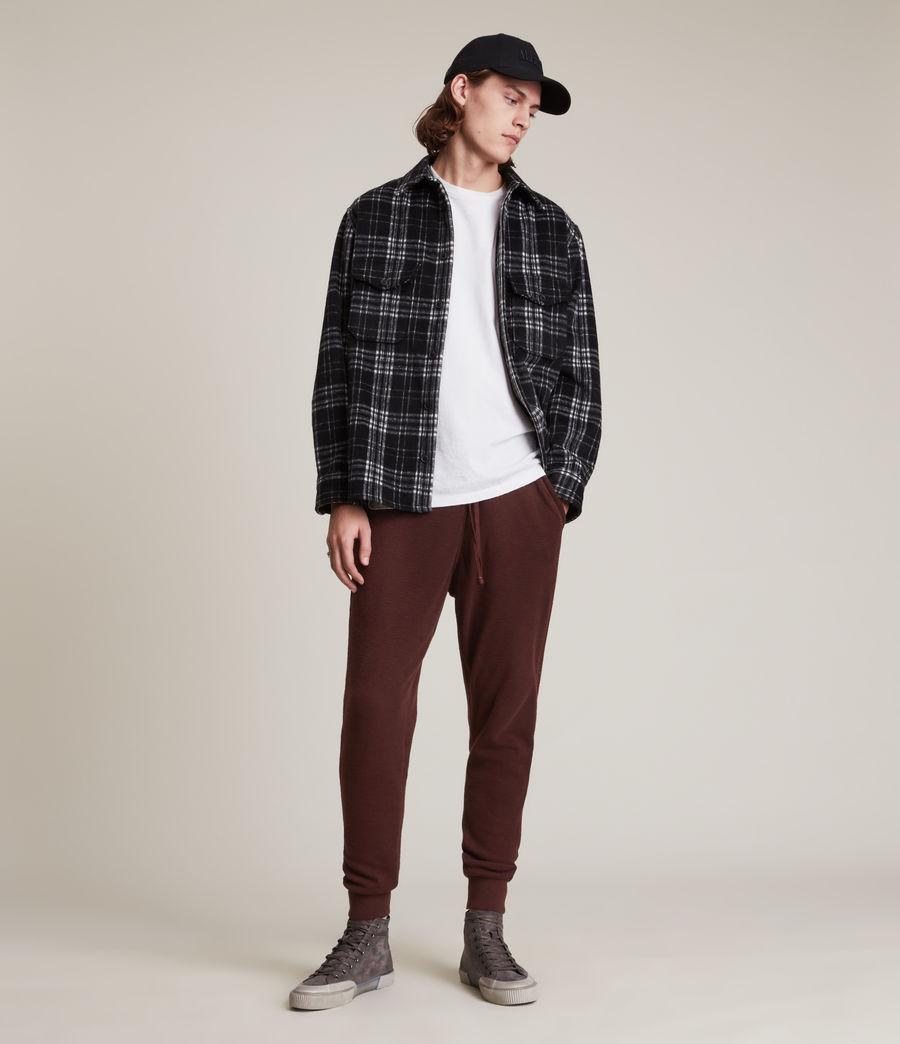 Herren Muse Cuffed Slim Sweatpants (charred_red) - Image 4