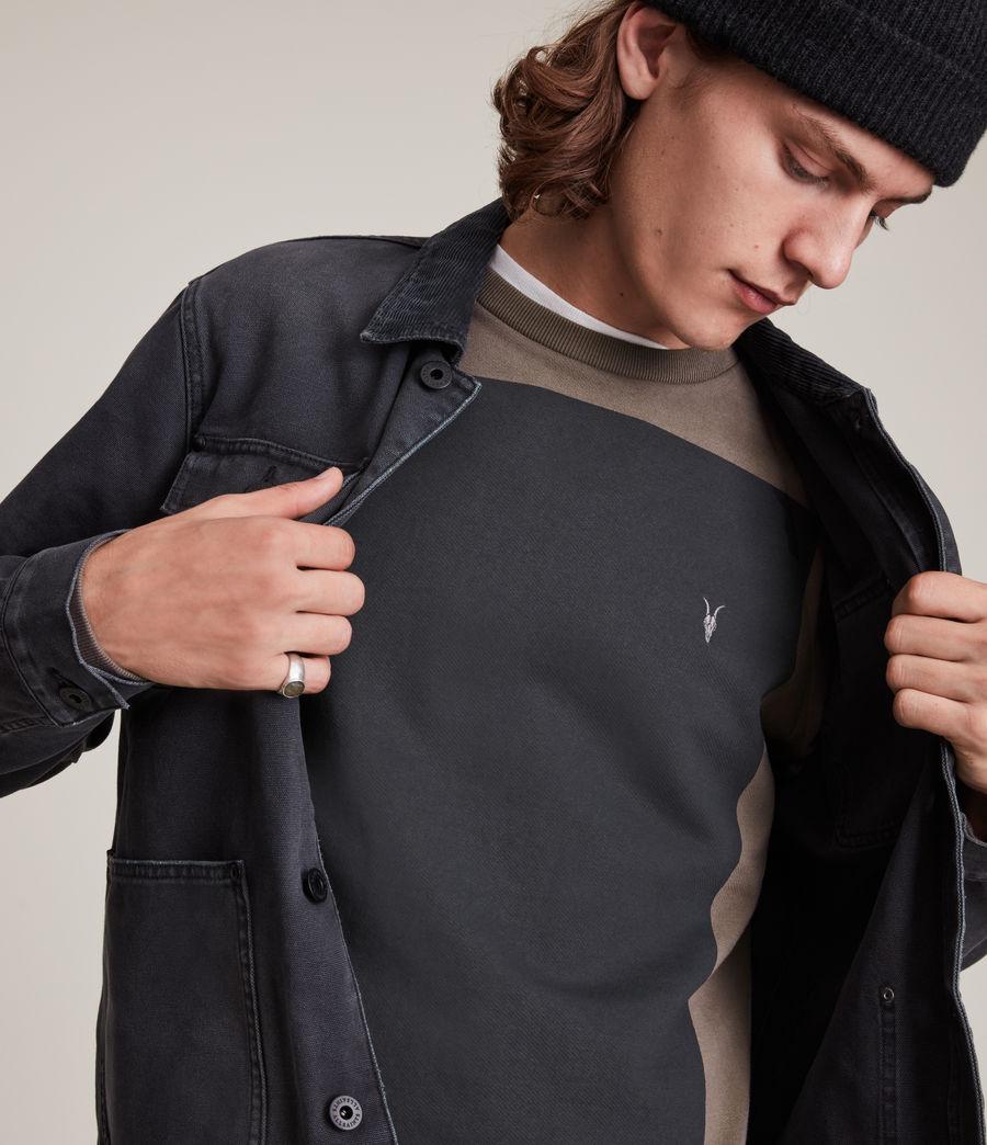 Herren Lobke Crew Sweatshirt (peppered_brown) - Image 1