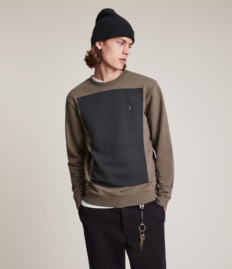 Herren Lobke Crew Sweatshirt (peppered_brown) - Image 2