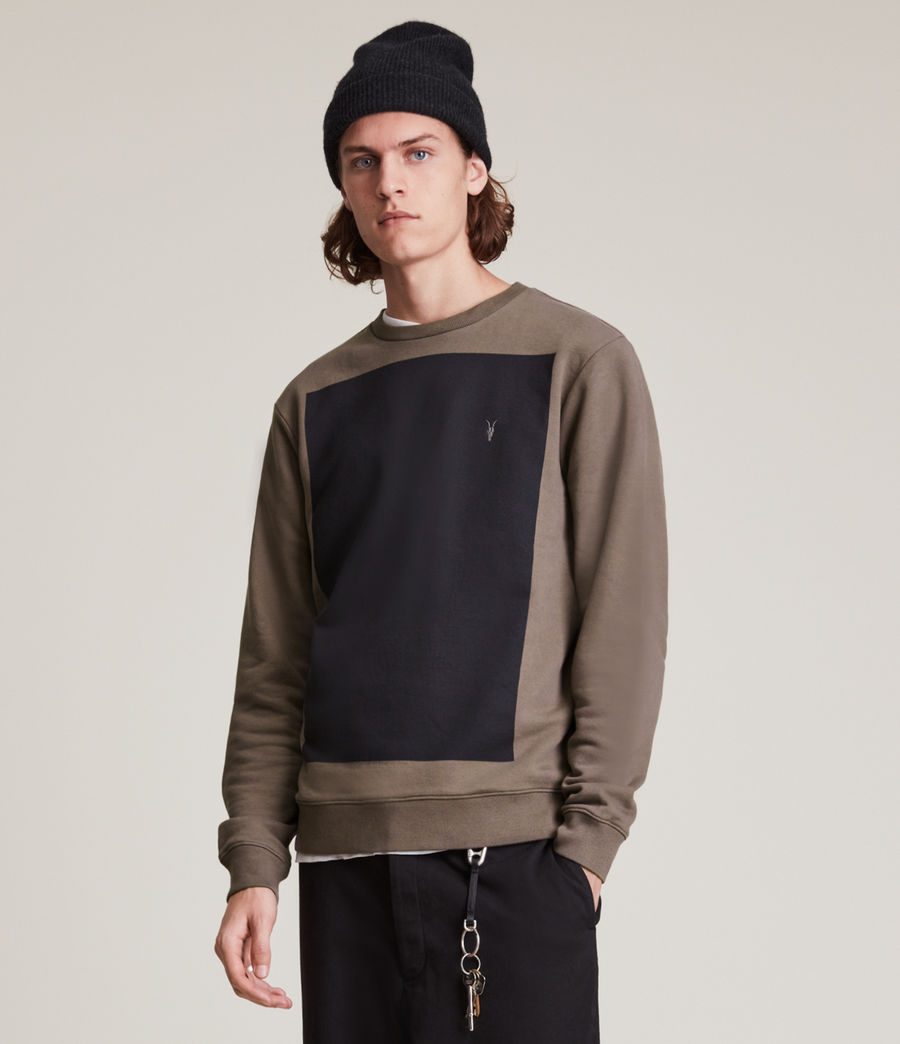 Herren Lobke Crew Sweatshirt (peppered_brown) - Image 3