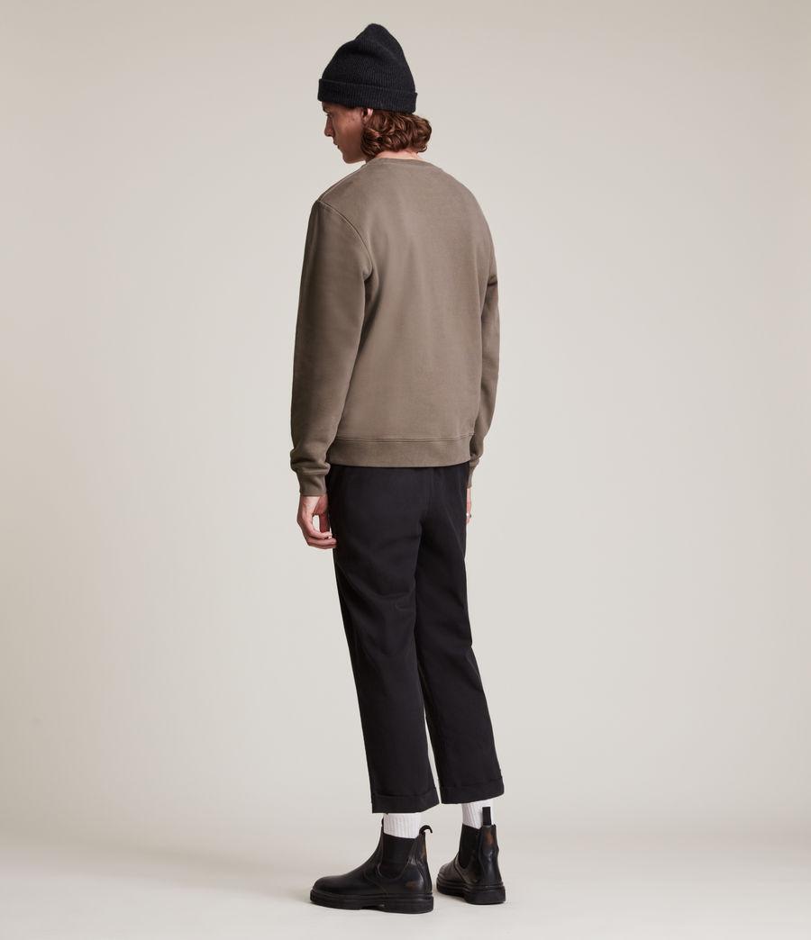 Herren Lobke Crew Sweatshirt (peppered_brown) - Image 4