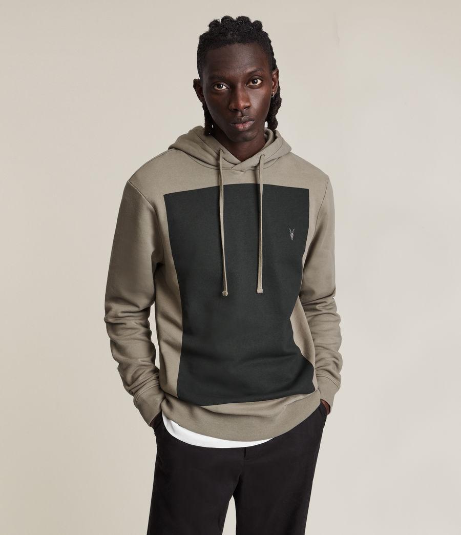 Hommes Lobke Pullover Hoodie (flint_gry_wshd_blk) - Image 3