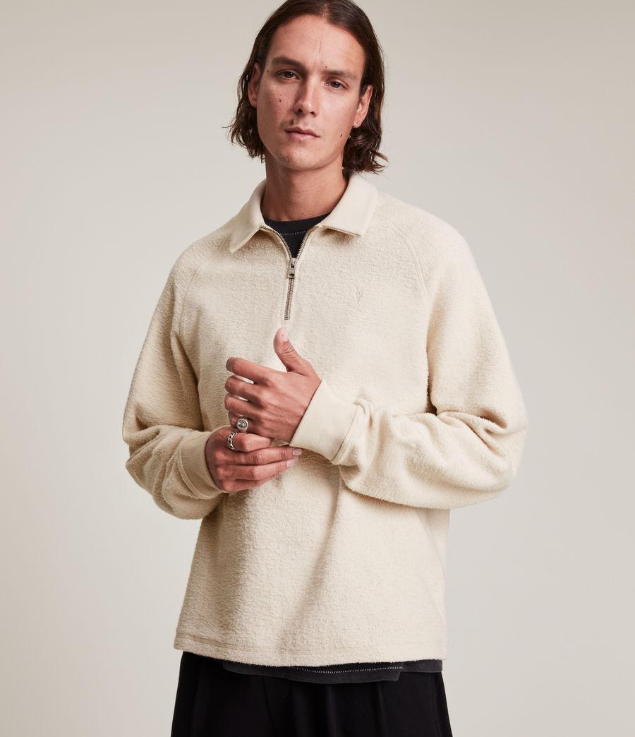 Men's Rafe Half Zip Polo Shirt (baron_taupe) - Image 1