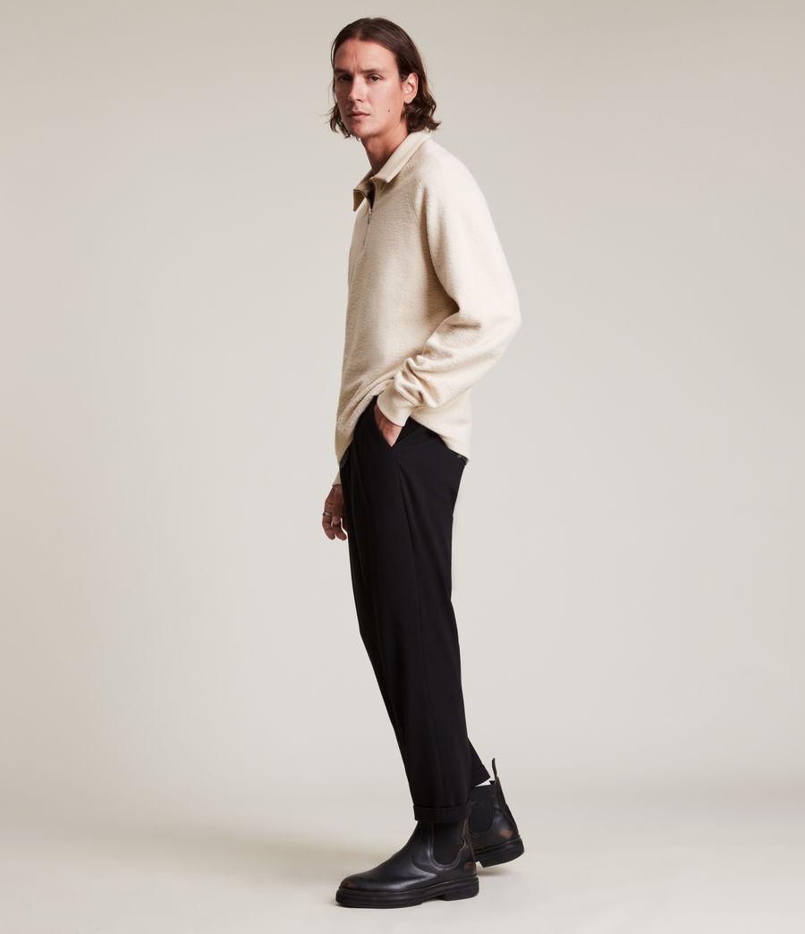 Men's Rafe Half Zip Polo Shirt (baron_taupe) - Image 3