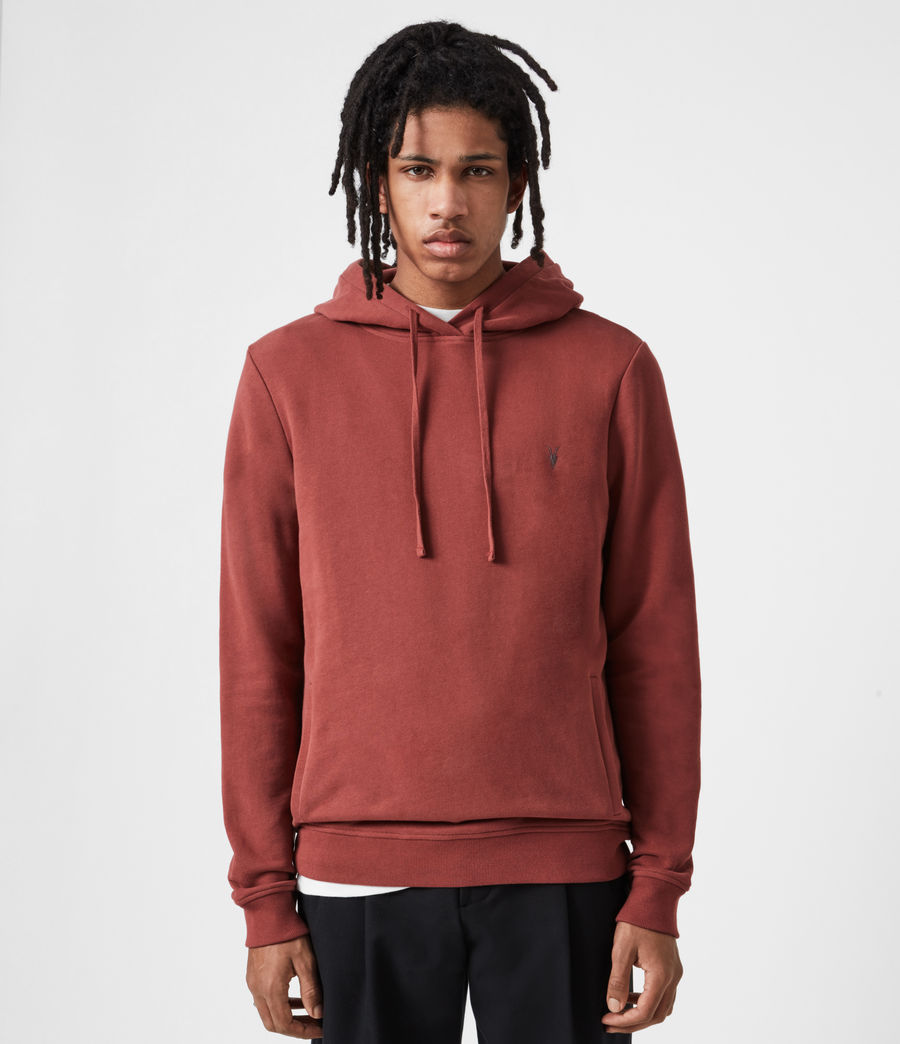 Mens Raven Pullover Hoodie (clay_red) - Image 1