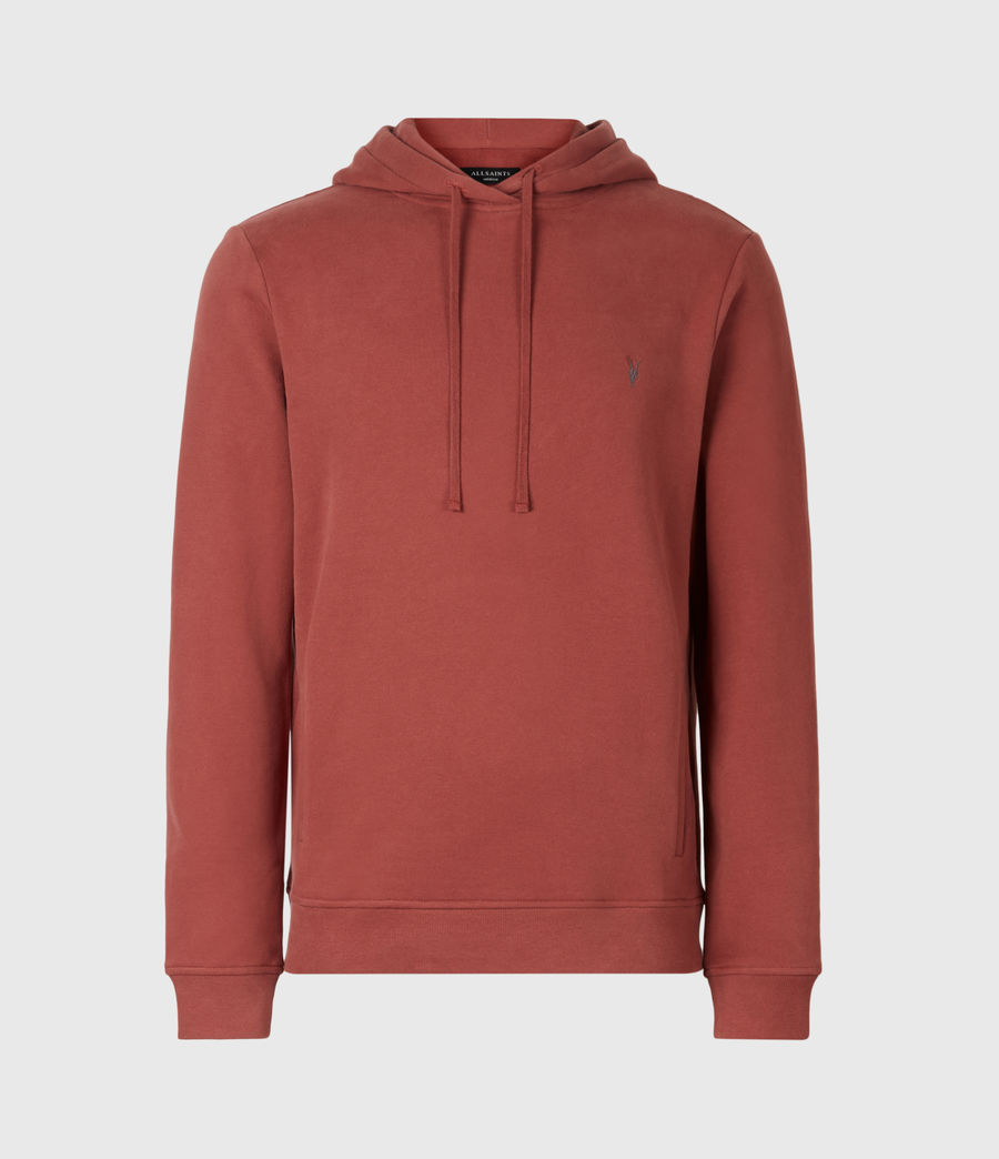 Mens Raven Pullover Hoodie (clay_red) - Image 2