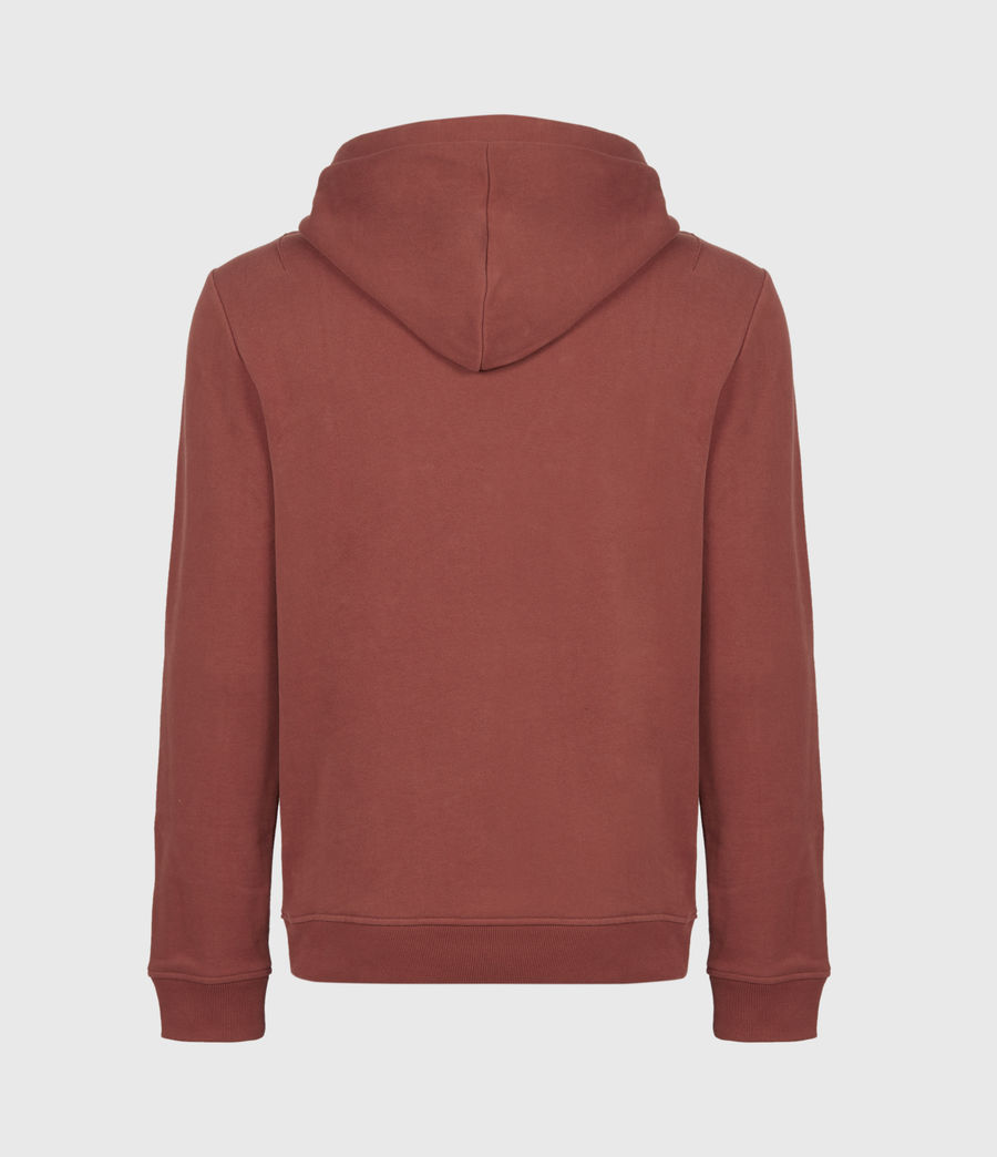 Mens Raven Pullover Hoodie (clay_red) - Image 3