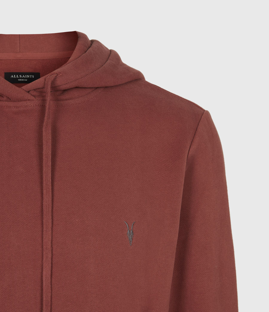 Mens Raven Pullover Hoodie (clay_red) - Image 5