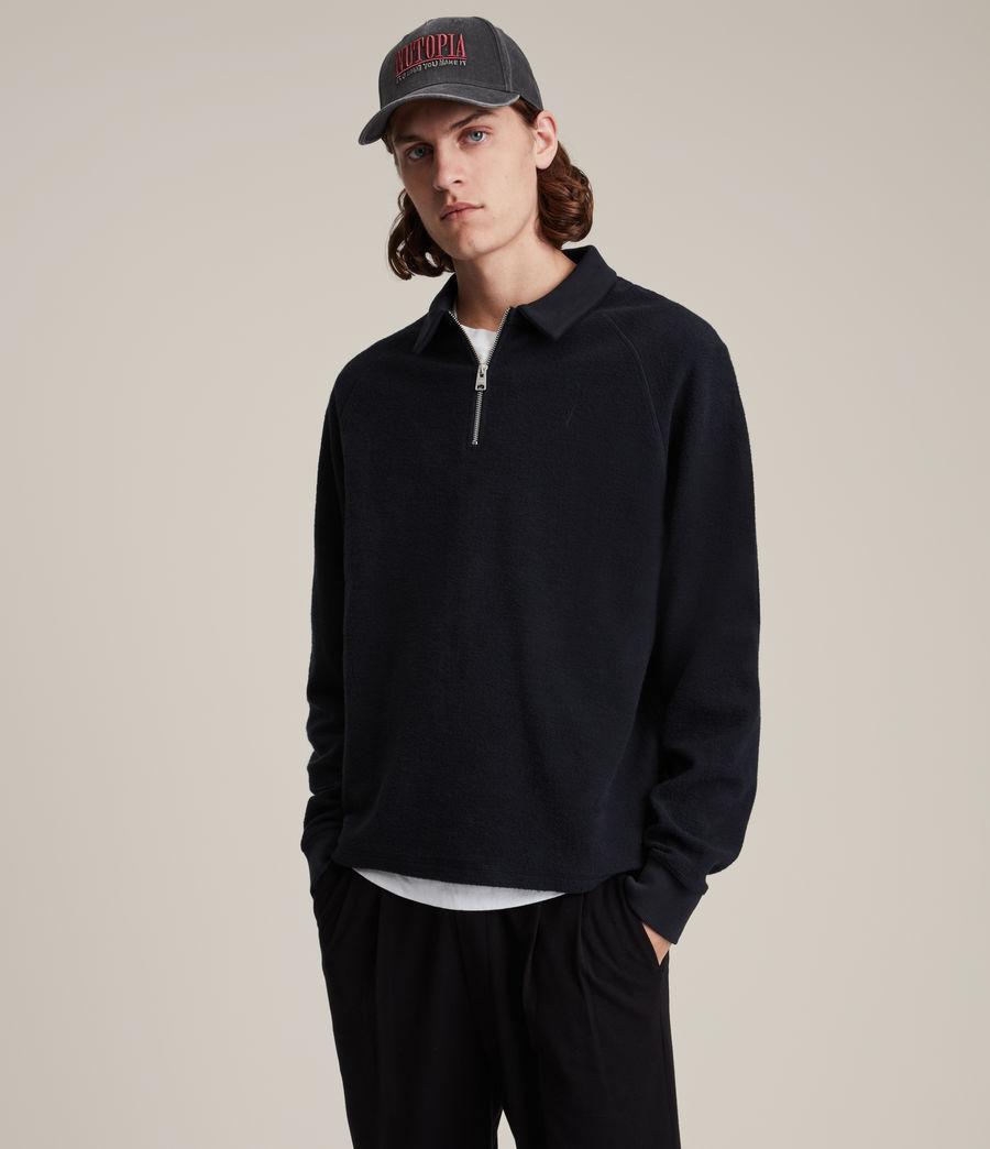 Hommes Rafe Half Zip Polo Shirt (ink_navy) - Image 1