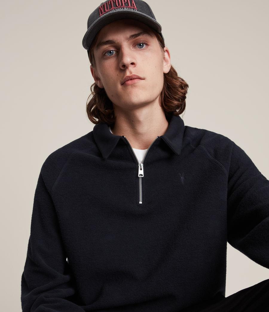 Hommes Rafe Half Zip Polo Shirt (ink_navy) - Image 2