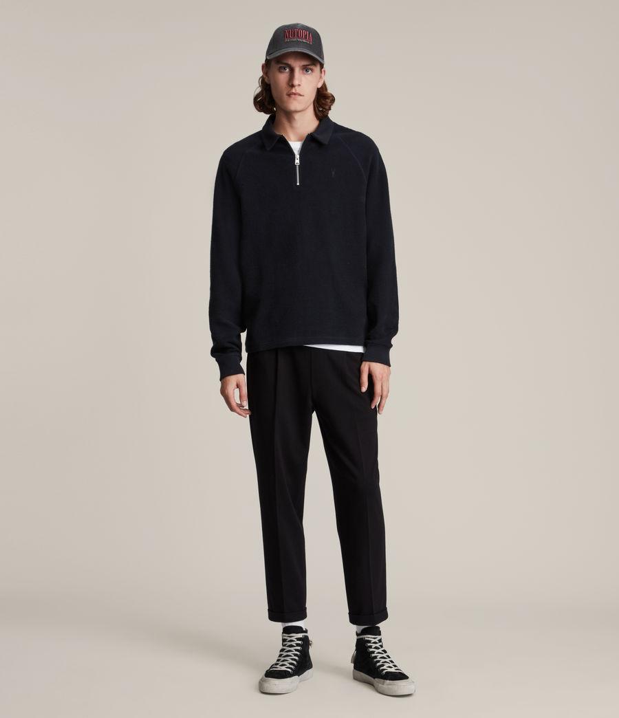 Hommes Rafe Half Zip Polo Shirt (ink_navy) - Image 3