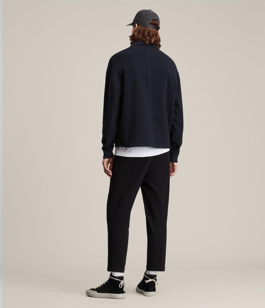 Hommes Rafe Half Zip Polo Shirt (ink_navy) - Image 5