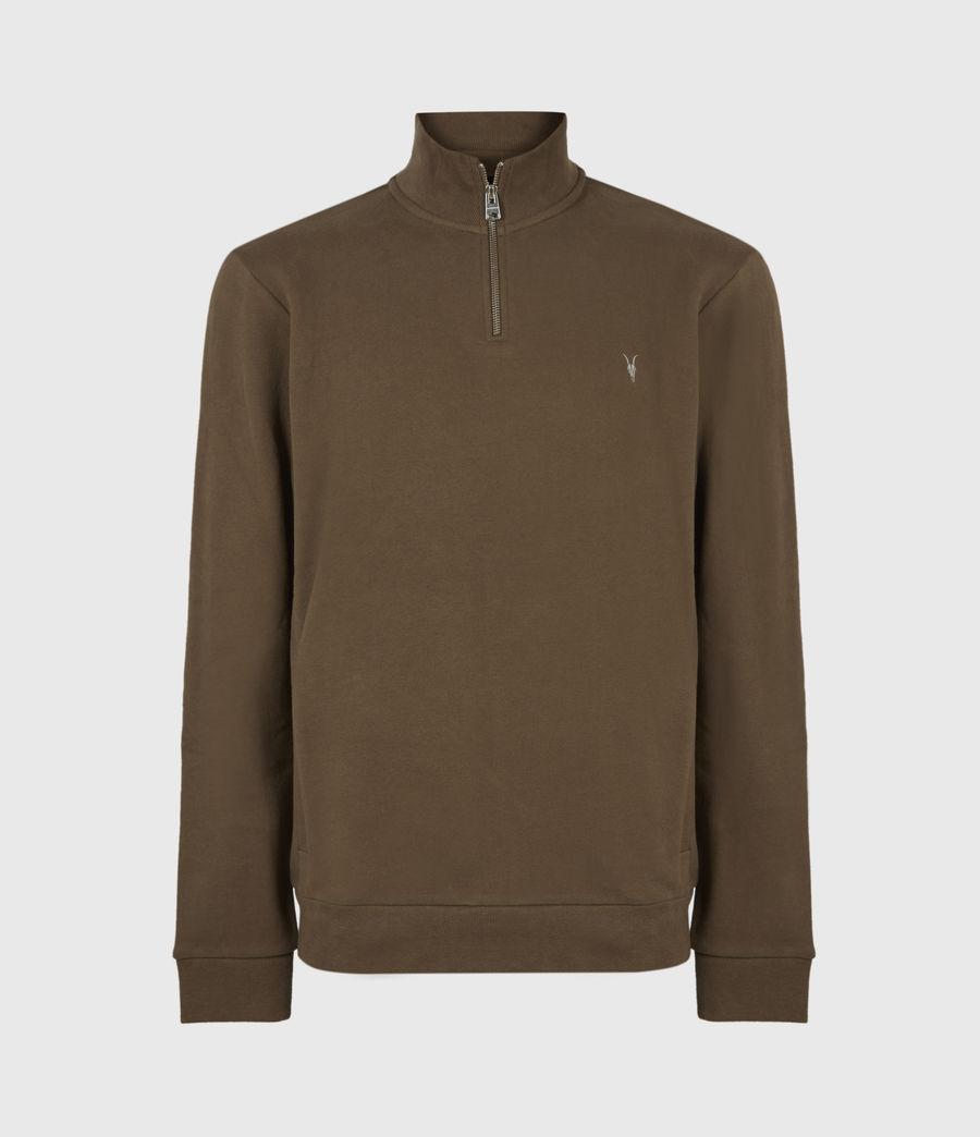 Herren Raven Reißverschluss Kragen Sweatshirt (totem_brown) - Image 2