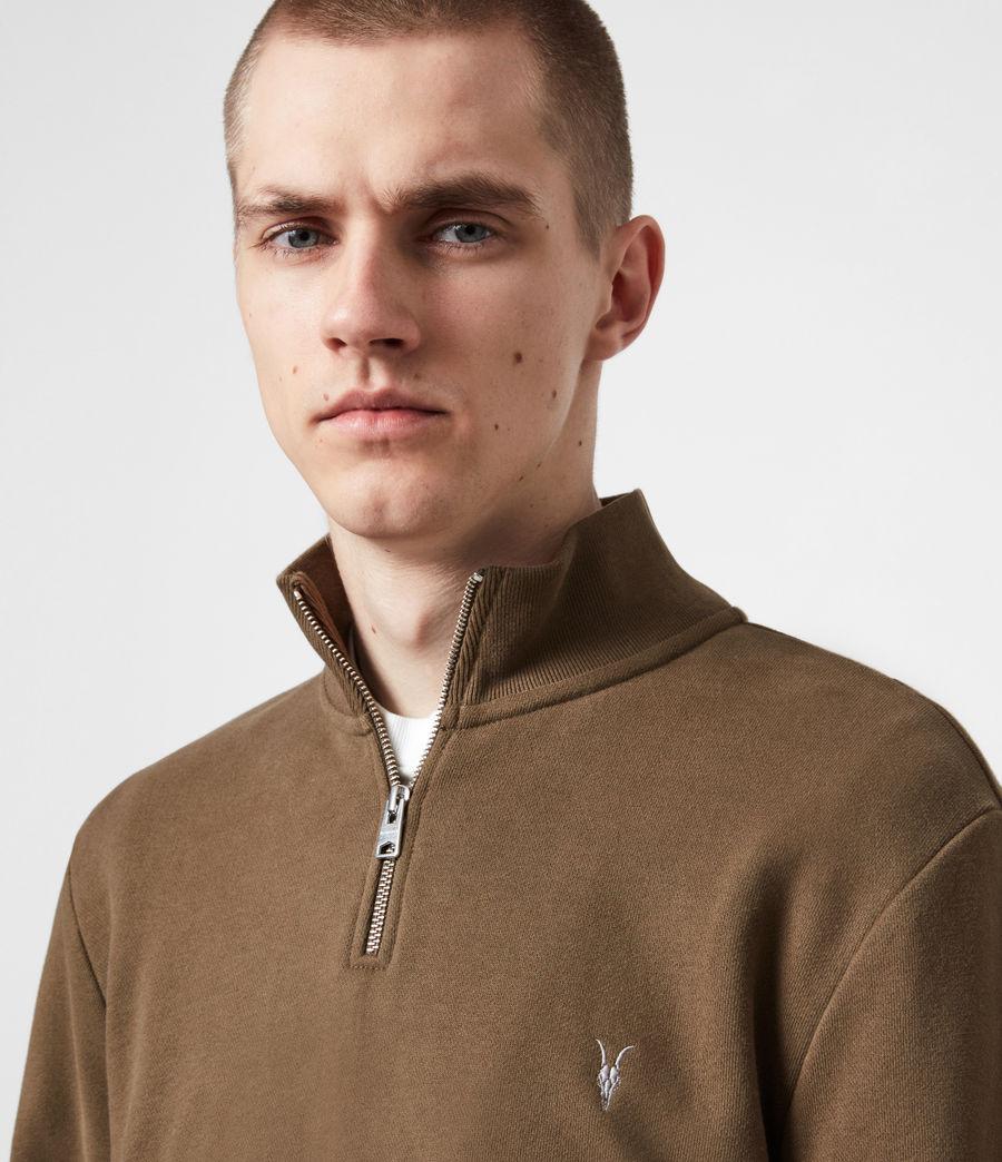 Herren Raven Reißverschluss Kragen Sweatshirt (totem_brown) - Image 4