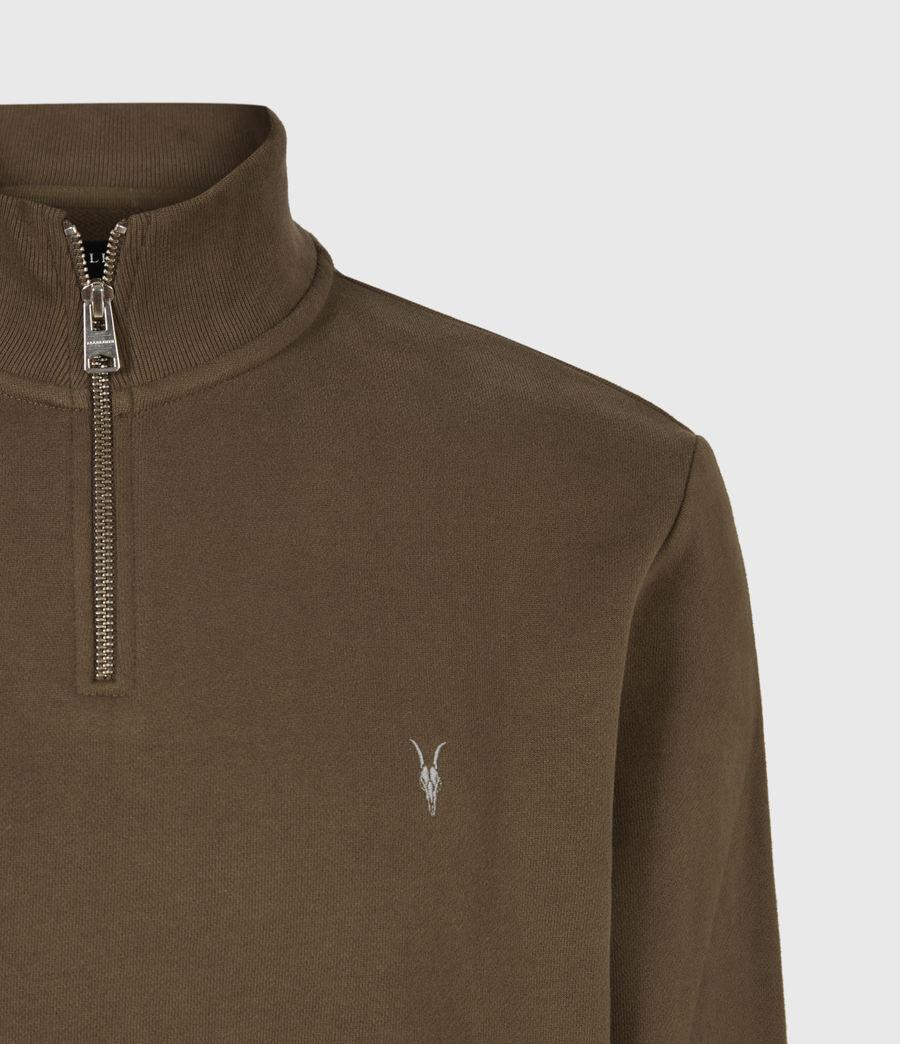 Herren Raven Reißverschluss Kragen Sweatshirt (totem_brown) - Image 5