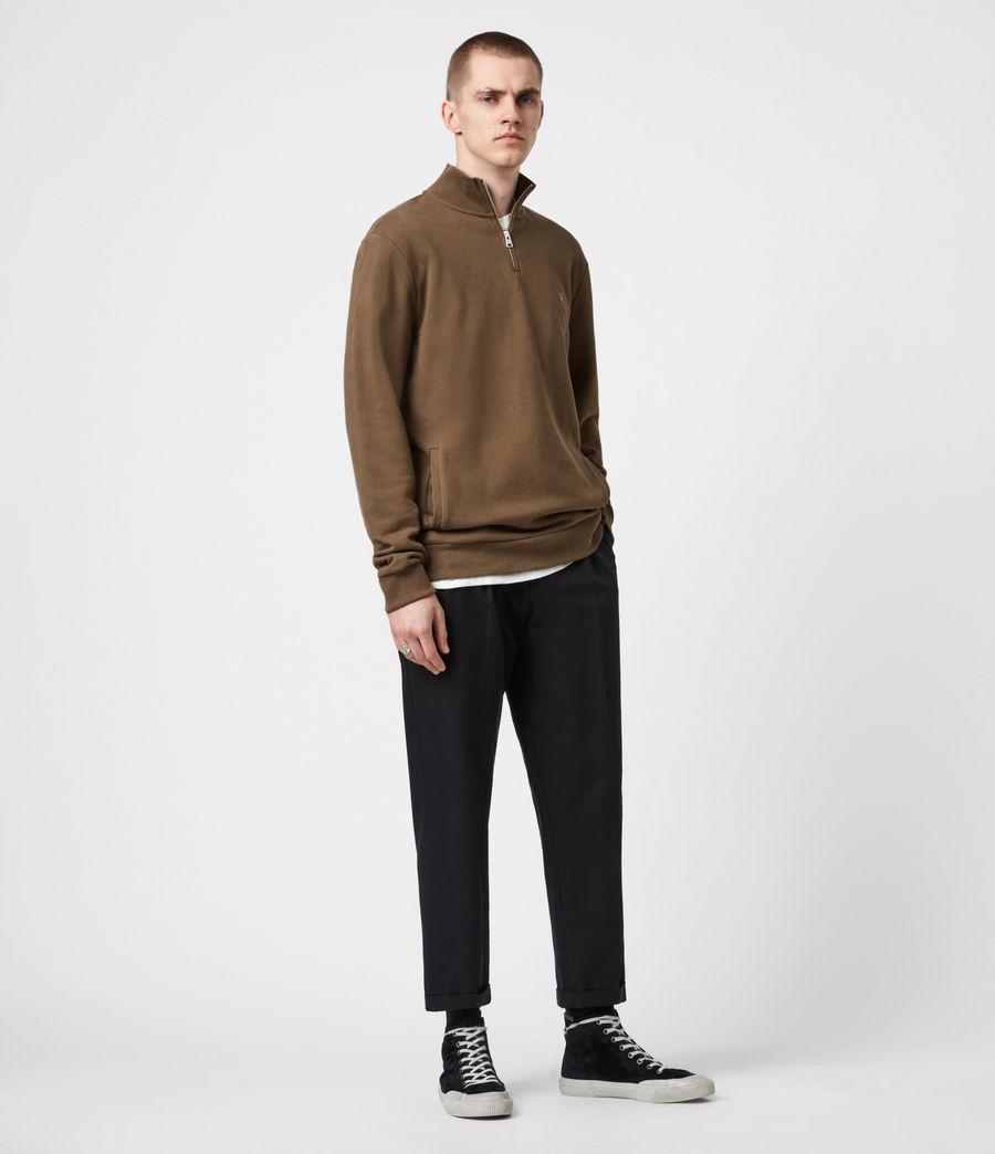 Herren Raven Reißverschluss Kragen Sweatshirt (totem_brown) - Image 6