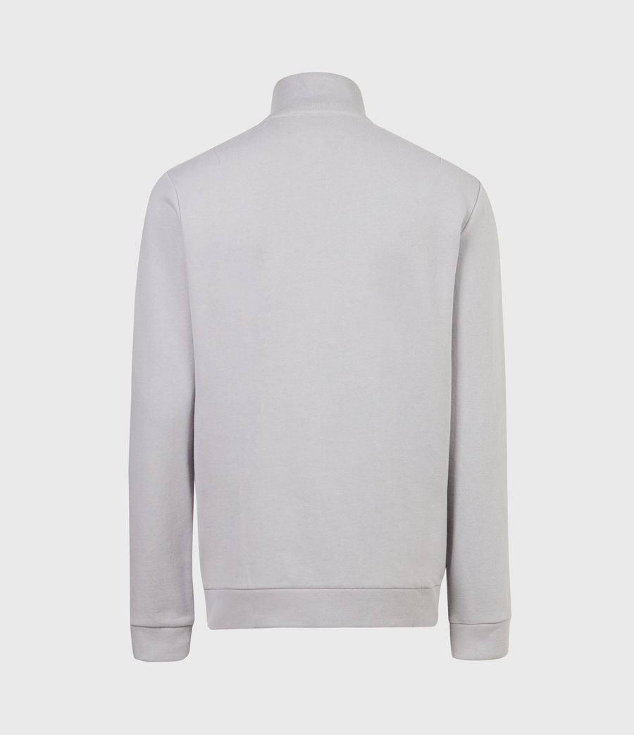 Herren Raven Reißverschluss Kragen Sweatshirt (heath_grey) - Image 3