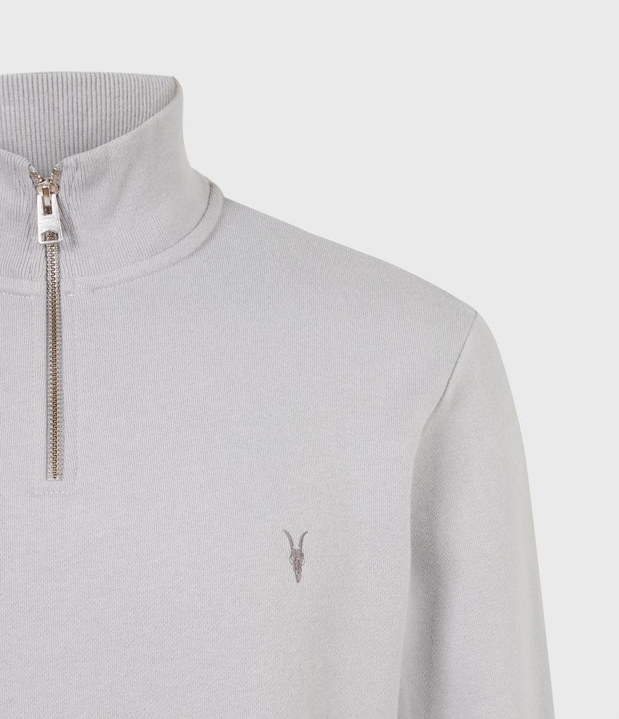 Herren Raven Reißverschluss Kragen Sweatshirt (heath_grey) - Image 5