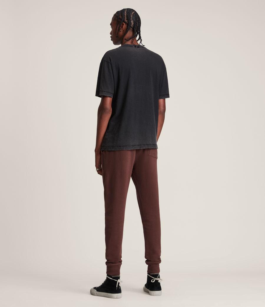 Men's Raven Cuffed Slim Sweatpants (damson_red) - Image 4