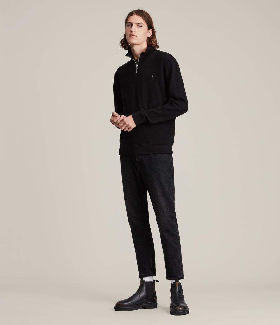 Herren Muse Half Zip Funnel Neck Sweatshirt (jet_black) - Image 3
