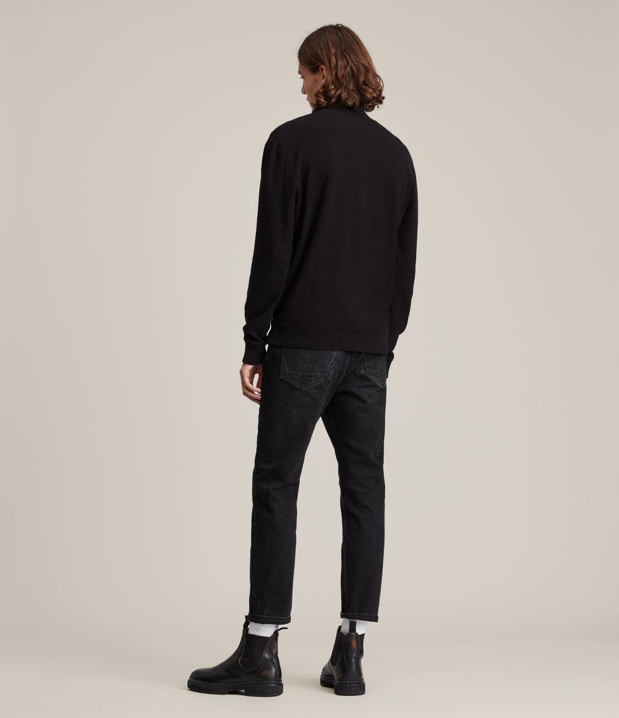 Herren Muse Half Zip Funnel Neck Sweatshirt (jet_black) - Image 4