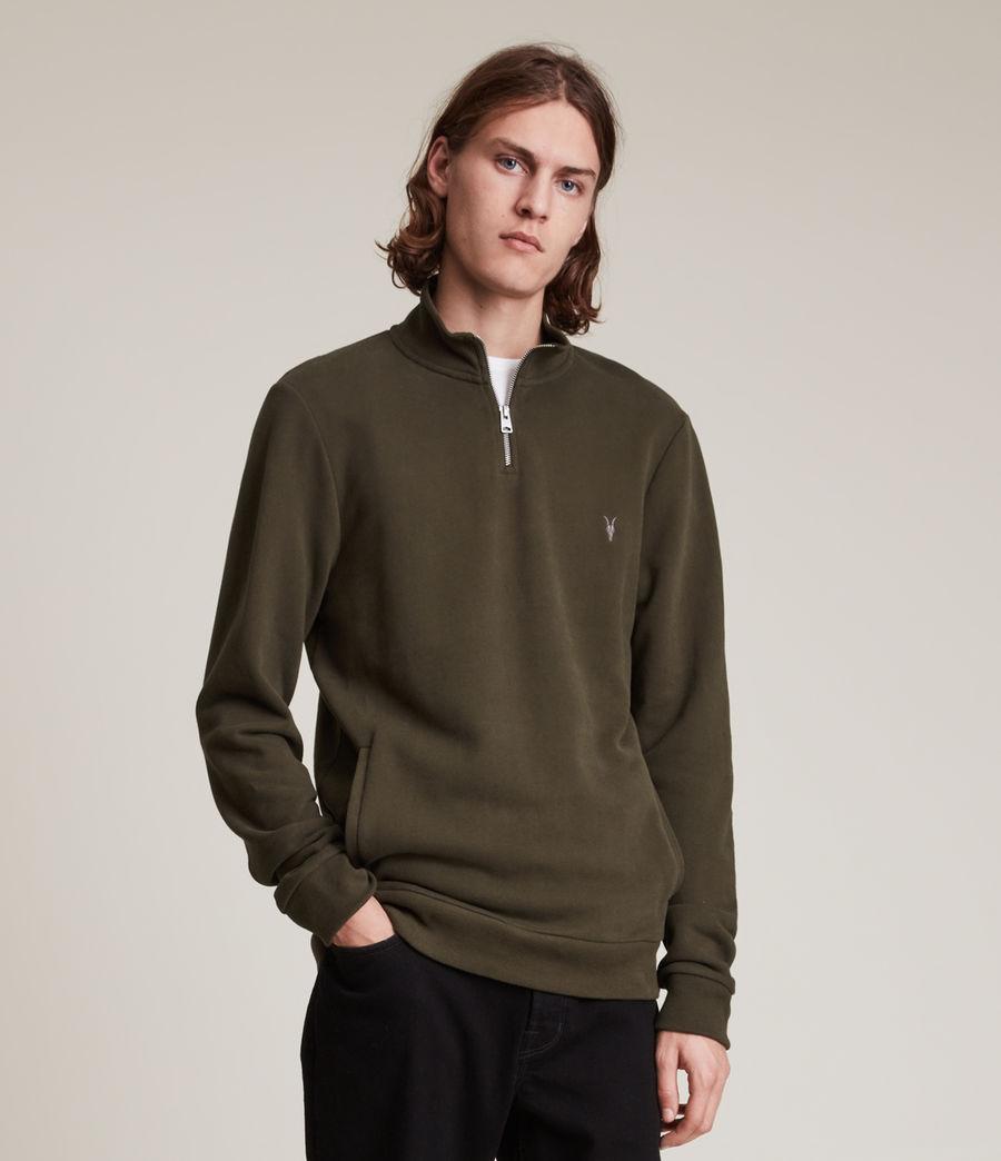 Herren Raven Half Zip Funnel Sweatshirt (marsh_green) - Image 1