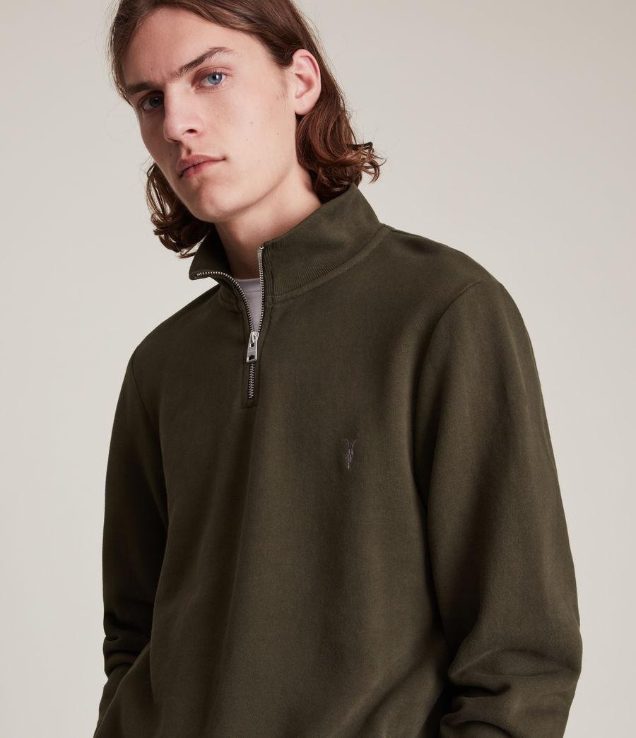 Herren Raven Half Zip Funnel Sweatshirt (marsh_green) - Image 2