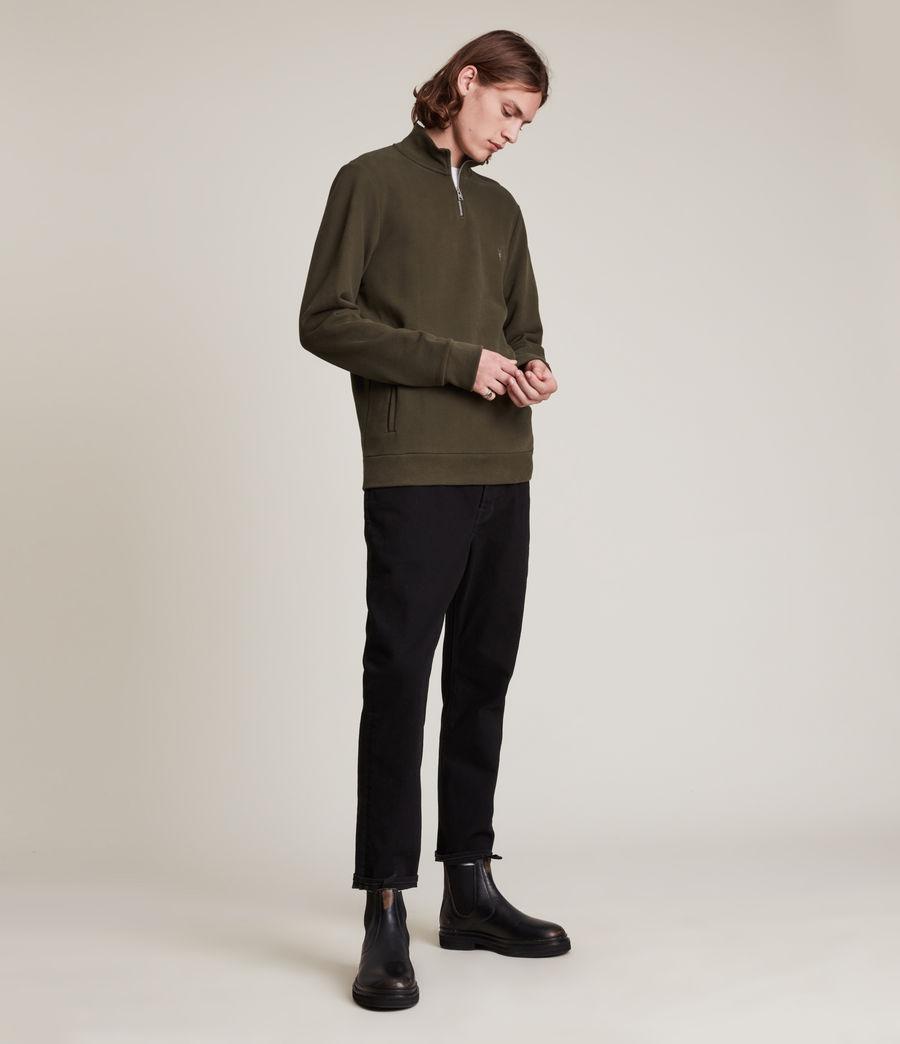 Herren Raven Half Zip Funnel Sweatshirt (marsh_green) - Image 3
