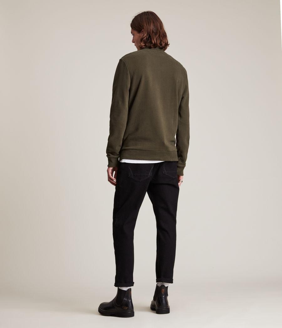 Herren Raven Half Zip Funnel Sweatshirt (marsh_green) - Image 4