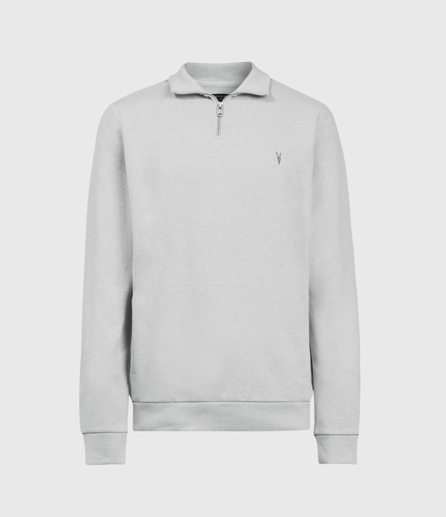 Men's Raven Half Zip Sweatshirt (grey_marl) - Image 2