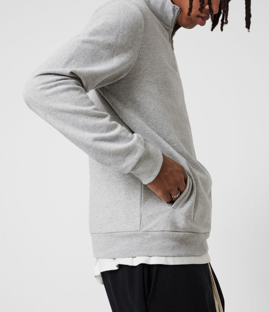 Men's Raven Half Zip Sweatshirt (grey_marl) - Image 4