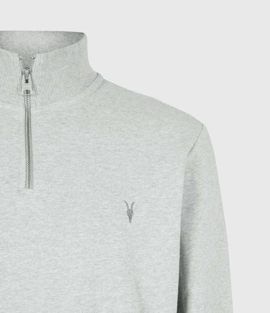 Men's Raven Half Zip Sweatshirt (grey_marl) - Image 5