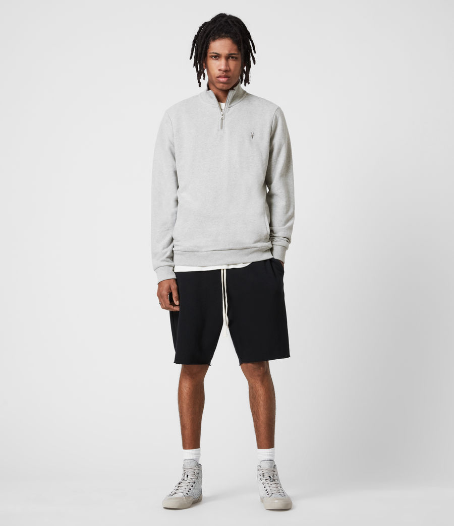 Men's Raven Half Zip Sweatshirt (grey_marl) - Image 6