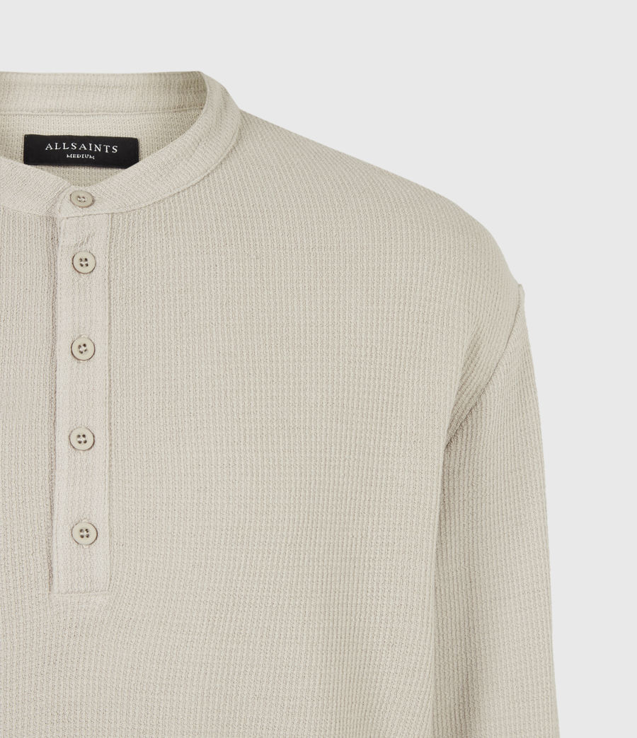 Mens Wrenley Organic Cotton Henley (corazone_taupe) - Image 5