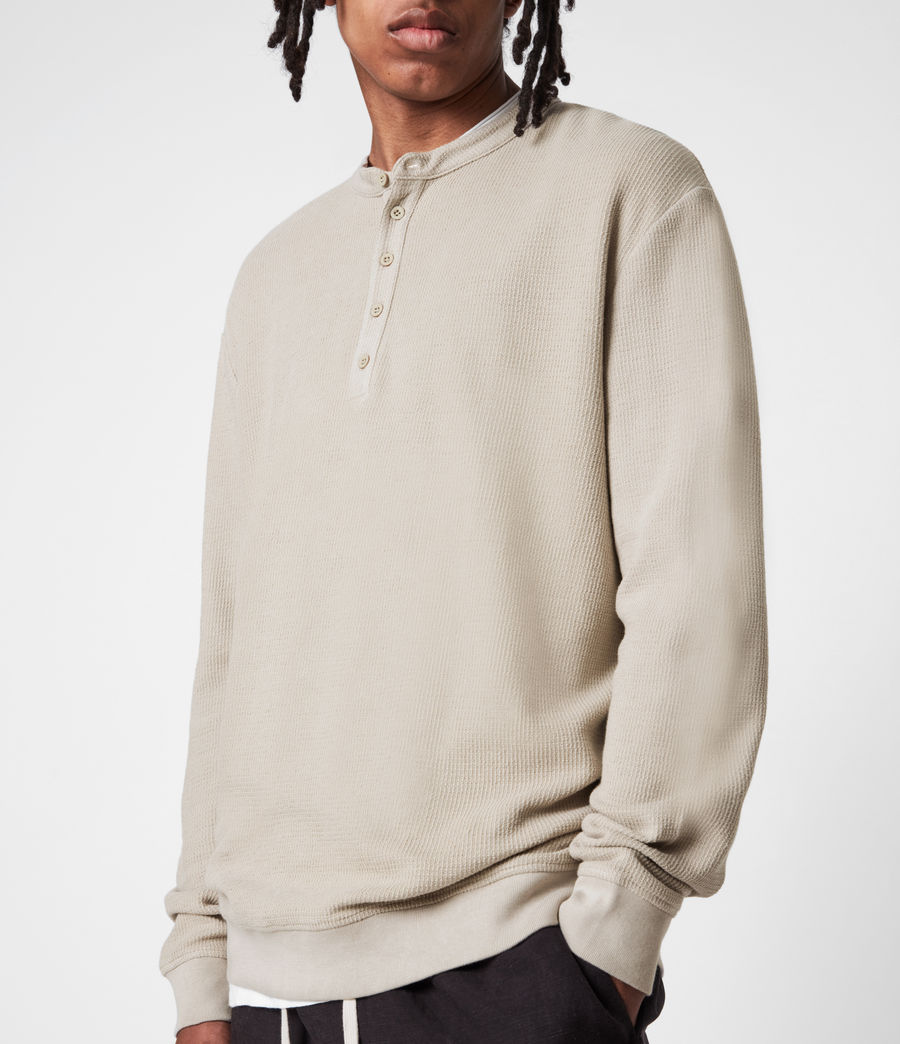 Mens Wrenley Organic Cotton Henley (corazone_taupe) - Image 7