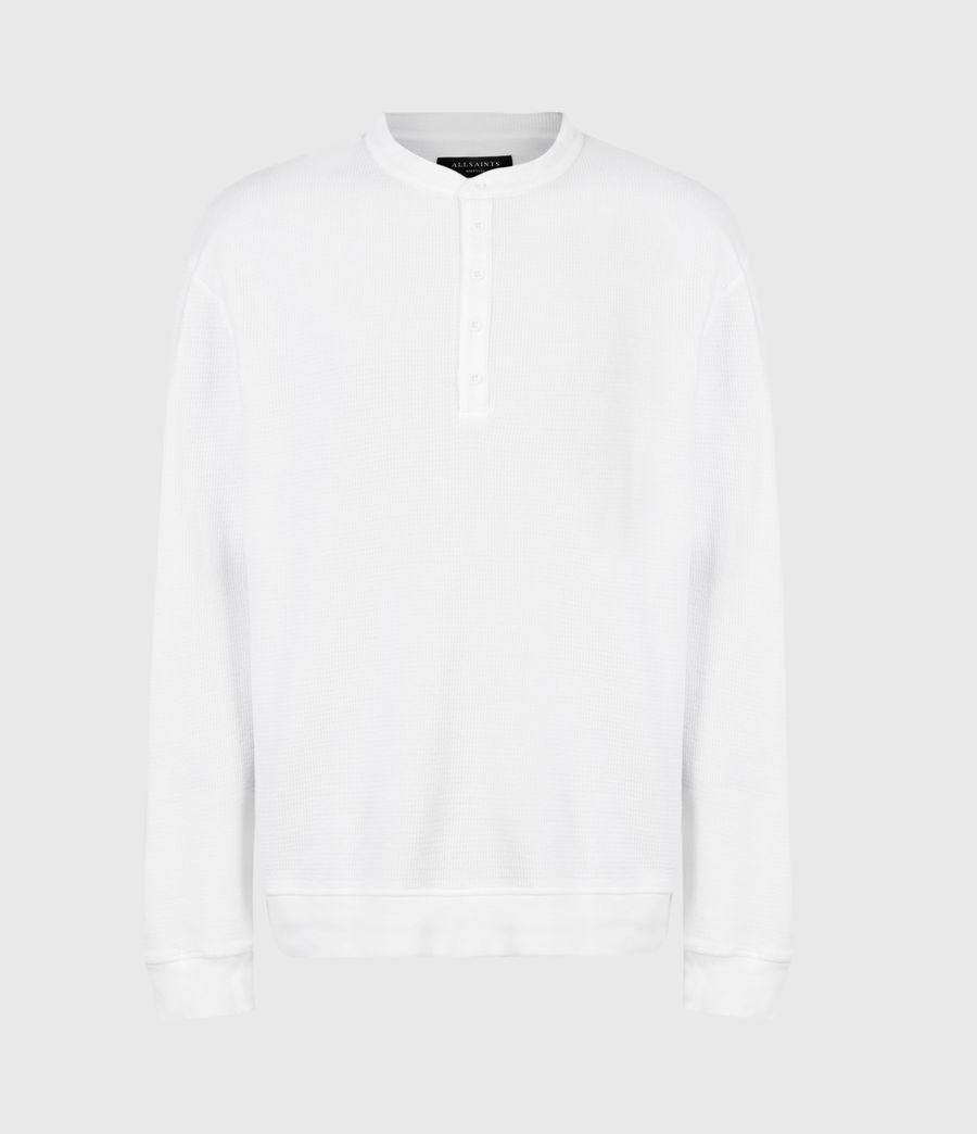 Mens Wrenley Organic Cotton Henley (optic_white) - Image 2