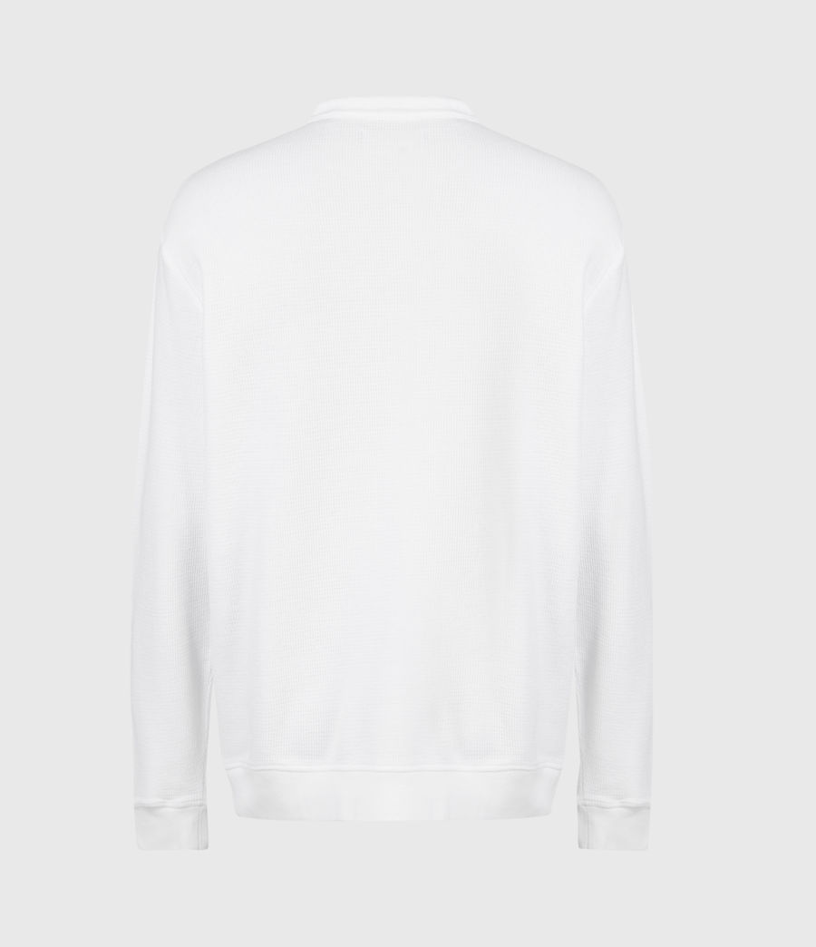 Mens Wrenley Organic Cotton Henley (optic_white) - Image 3
