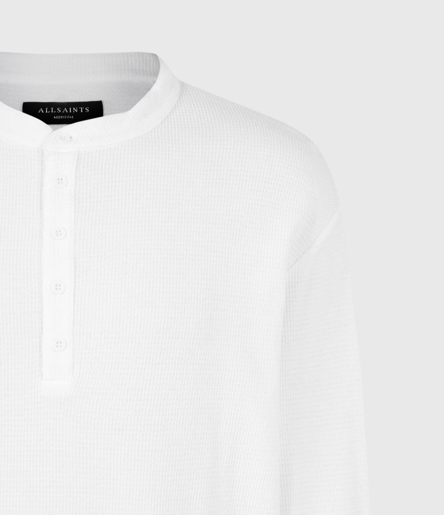 Mens Wrenley Organic Cotton Henley (optic_white) - Image 5